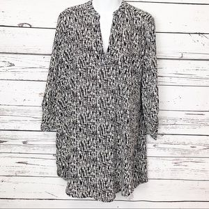 LUSH | black white tunic XL